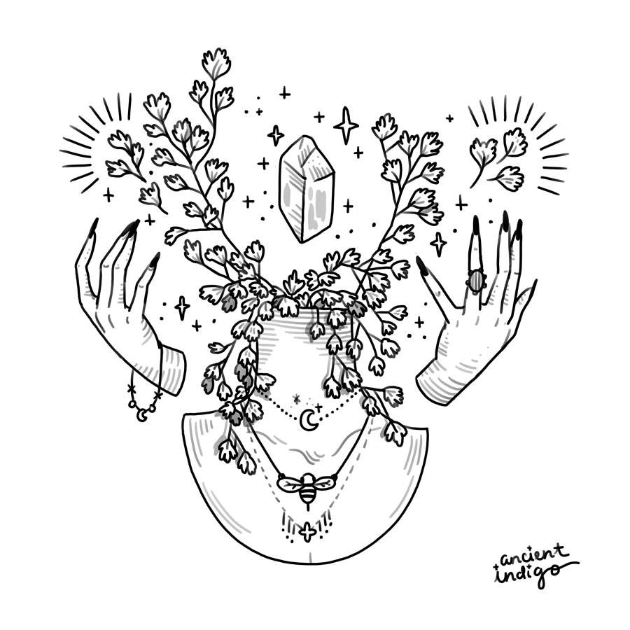 Magick Hands and Maiden's Hair Fern